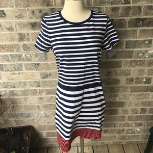 OLD NAVY Preppy Nautical Mixed Stripe Tshirt Dress